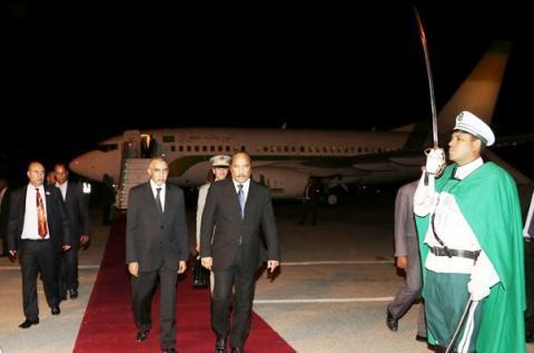 رئيس الجمهورية: يصل نواكشوط