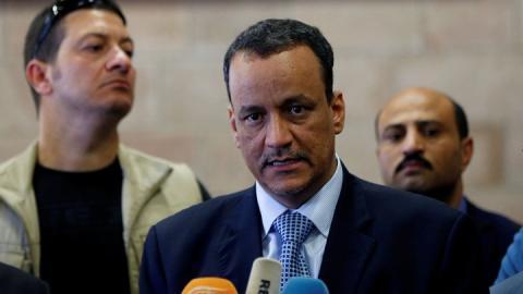 ولد الشيخ أحمد، يصل صنعاء، لبحث فرص التهدئة العسكرية وإنعاش السلام