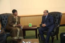 عزيز يلتقي بالمدعية العامة للجنايات الدولية والأخير تشكر تعاون  موريتانيا