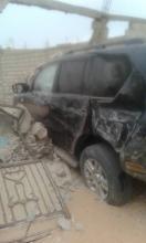 نواكشوط: حارس بورصة بتفرغ زينة يسرق سيارة وتُعرٍٍٍِِضه لحادث سير خطير